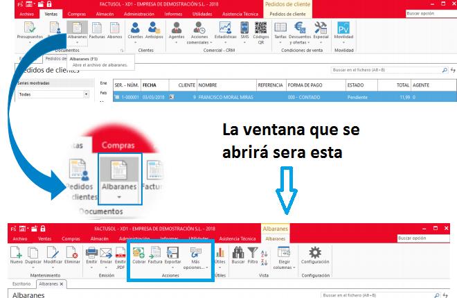 Exportar archivo ventas