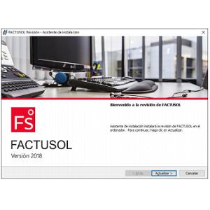Ventana emergente para instalar Factusol en red