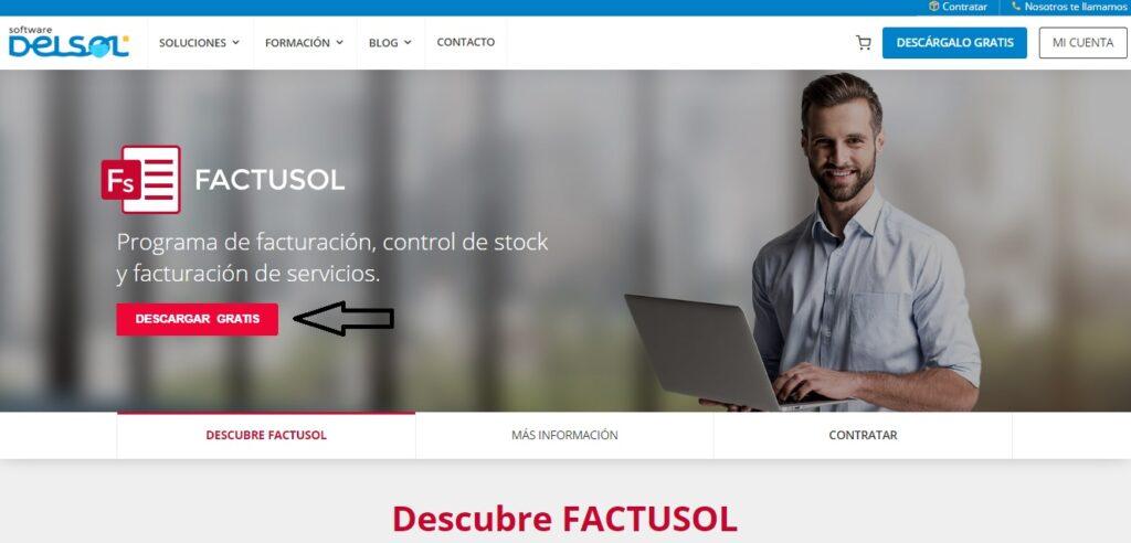 Paso 2 para descargar Factusol para Linux